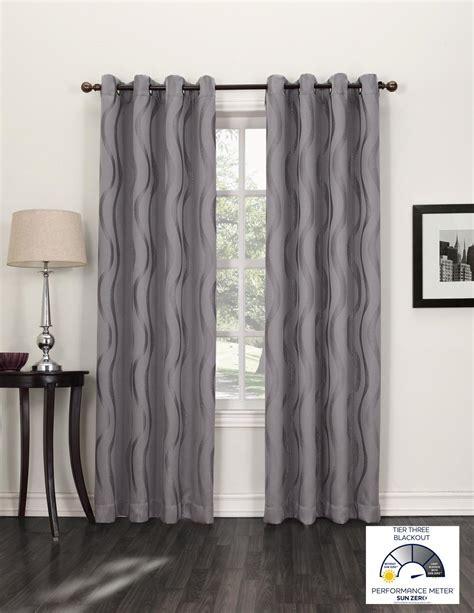 travis rods for drapes com sun zero travis modern wave print blackout