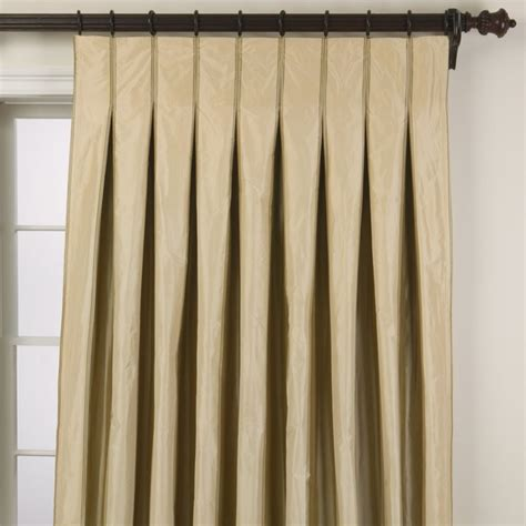D And D Drapery taffeta stripe inverted pleat panel traditional
