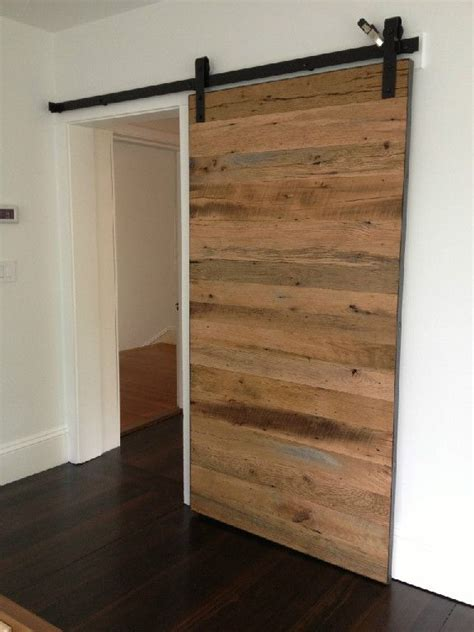 Temporary Doors by Sliding Door Made Of Reclaimed Wood Cool Stuff