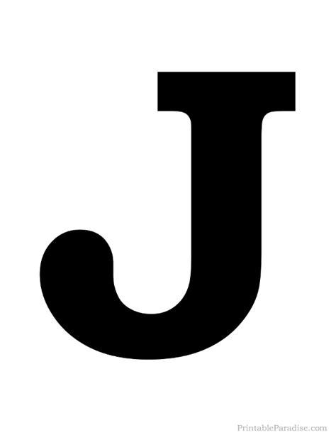 J Letter Printable Letter J Silhouette Print Solid Black Letter J