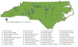 carolina colleges map carolina independent colleges universities