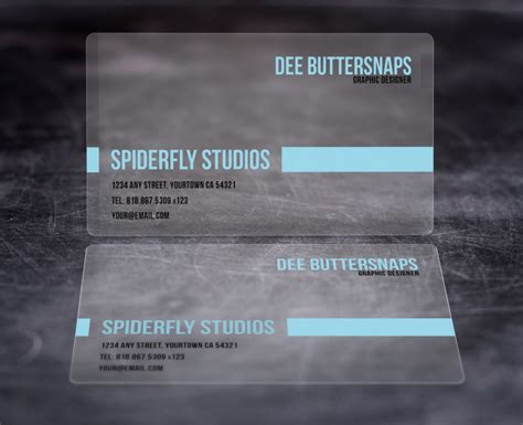 Frosted Business Card Template by Plastic Business Cards Spiderfly Studios