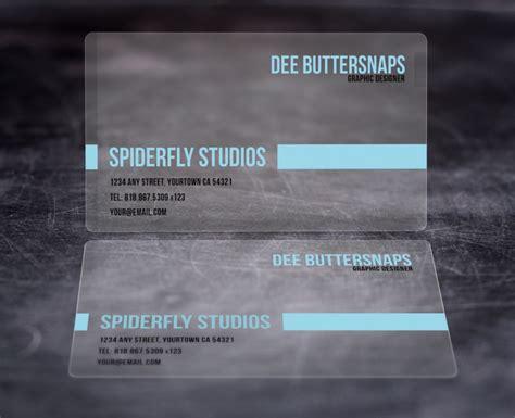 Plastic Business Cards plastic business cards spiderfly studios