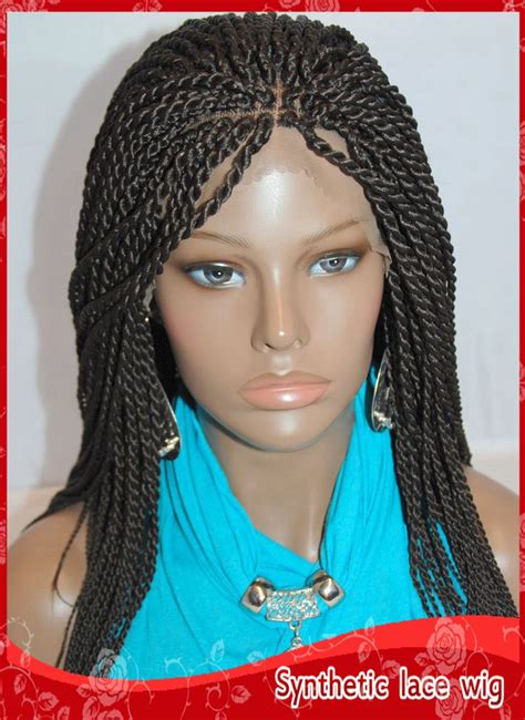 one weave braid style new style twist havana full hand braided lace front wigs