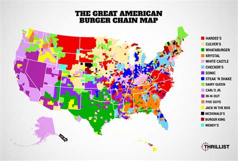 white castle locations map most popular american burger chains map in n out sonic five guys