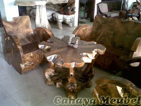 set kursi antik akar kayu jati cahaya mebel jepara