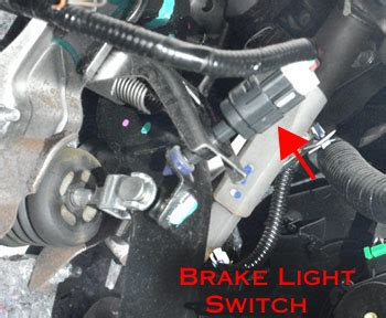 brake light switch: symptoms, problems, testing, replacement