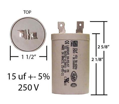 motor run capacitor 15 mfd weg 15 mfd 250 vac motor run capacitor capacitorwarehouse