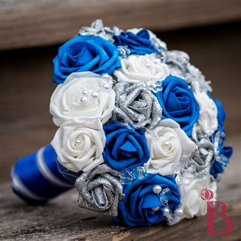 Wedding Bouquet Royal Blue by Royal Blue And Silver Wedding Bouquets Www Imgkid