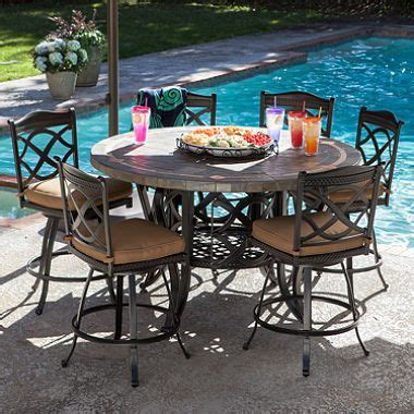 heirloom slate outdoor patio 7pc dining set 3pc accent pin by deanne draeger on outdoor space pinterest