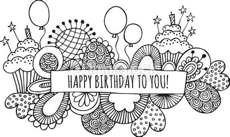 doodle happy birthday sayang 1000 images about zentangle doodles coloring pages on