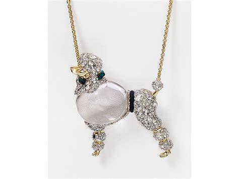 Kaos Juragan Gold Silver Mengkilat Bling Bling lyst bittar lucite strolling poodle pendant collar necklace 32 quot in metallic