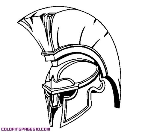 Spartan Helmet Spartan Coloring Pages