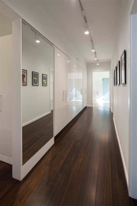 boston mirrored doors closet hall contemporary with high