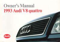 free download parts manuals 1993 audi quattro navigation system audi owner s manual v8 quattro 1993 bentley publishers repair manuals and automotive books