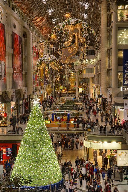christmas at the eaton centre in toronto see our canada