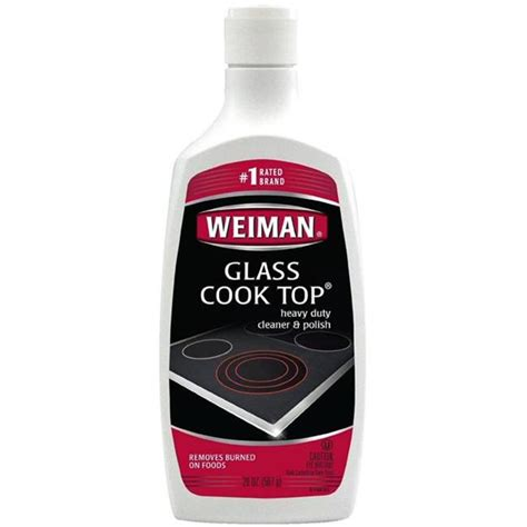 glass ceramic cooktop cleaner weiman glass ceramic heavy duty cook top cleaner