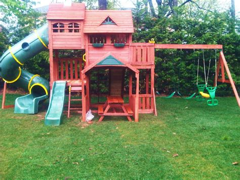 play swing sets swing set installation nj playset installer cedar summit