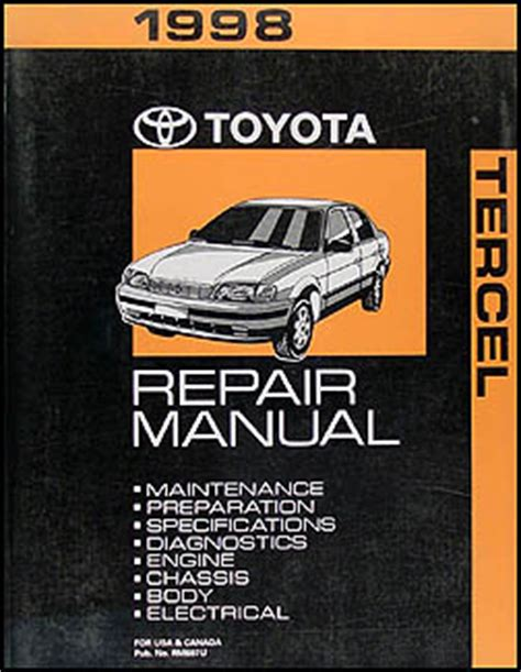 service and repair manuals 1993 toyota tercel electronic toll collection 1994 1999 toyota tercel 4 speed automatic transmission repair shop manual