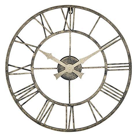 buy hanslin large number metal wall clock online at low buy lascelles outdoor clock dia 50cm metallic john lewis