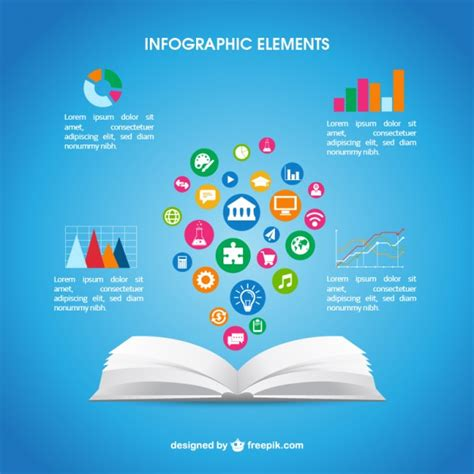 libro infographics human body open book infographic vector free download