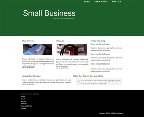 Small Business Website Template free small business website templates template design