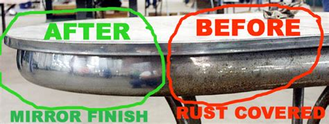 how to clean rust off chrome table legs vintage chrome table restoration with usa fluid