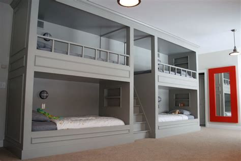 Unique Bedroom Ideas by Bunk Beds Built Into Wall Plans Home Design Ideas