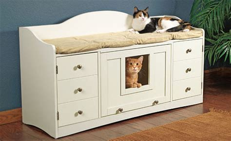 bench cat litter box cat litter box furniture litter box covers for cats