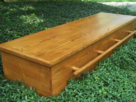 Handmade Caskets - crafted green casket by greenwood casket company