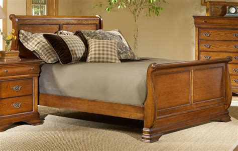 bedroom bed frame with king size sleigh bed