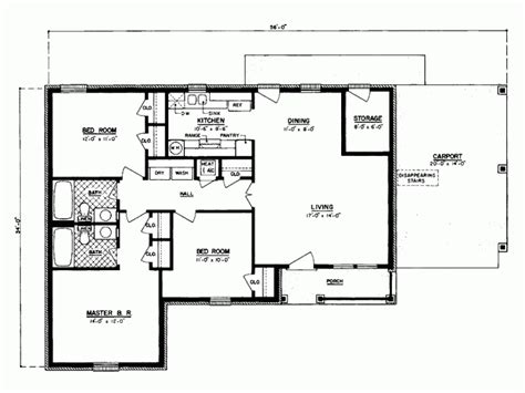 Eplans Country House Plan Three Bedroom Country 1100 1100 Sf House Plans