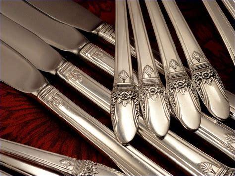 artistic flatware 1847 rogers deco silverware set vintage 1937 silver from firesidetreasures on