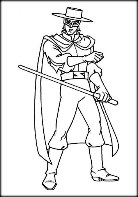 coloring pages for zorro best zorro coloring pages for preschoolers color zini