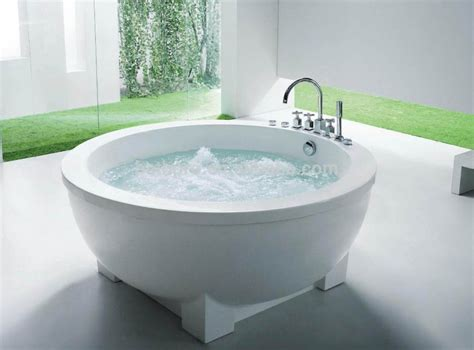 small round bathtub freestanding pure white acrylic small round bathtub r8002