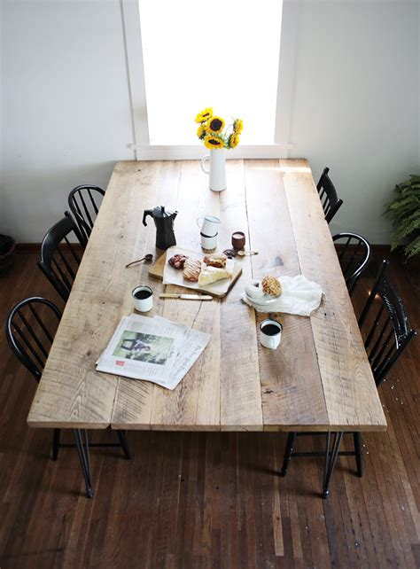 reclaimed wood table diy diy reclaimed wood table 187 the merrythought