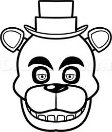 Freddy fazbear colouring pages