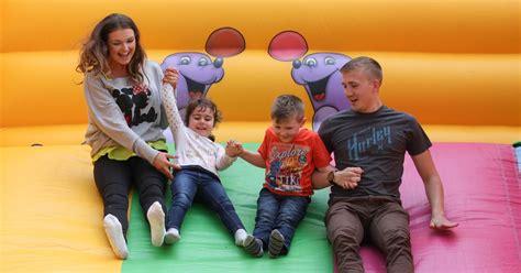 Theme Park Near Bristol | a massive inflatable theme park has opened near bristol