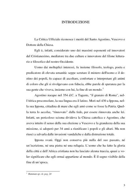 lettere di s agostino rileggendo sant agostino tesi di laurea
