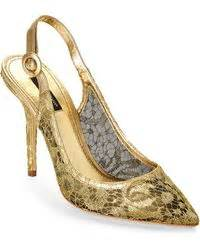 N6 Dolcee And Gabbana Shoes 600 1 03 dolce gabbana 110mm pointy satin bow pumps in gold ivory lyst