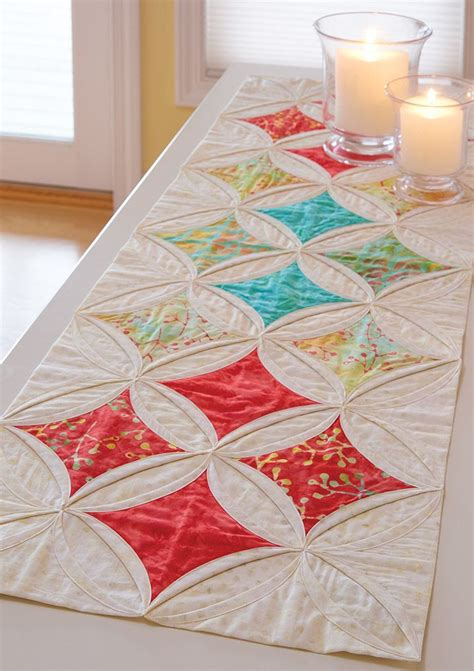 cathedral window runner 45 best quilt with the stars images on pinterest quilt