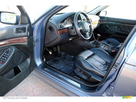 black interior 2002 bmw 5 series 540i sedan photo