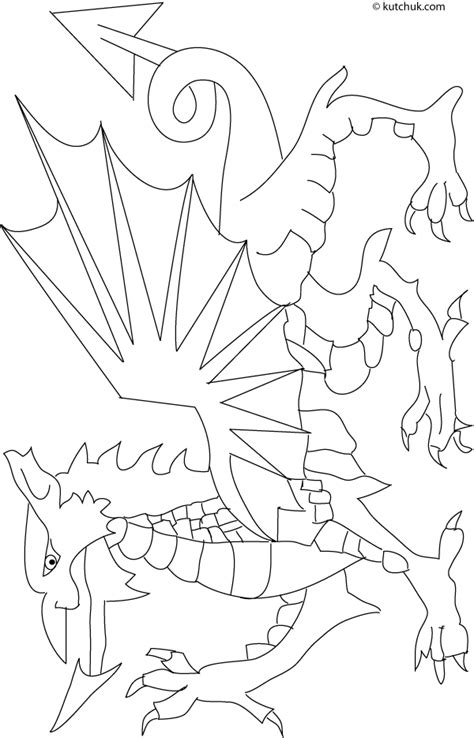 welsh dragon coloring page the welsh dragon colouring pages