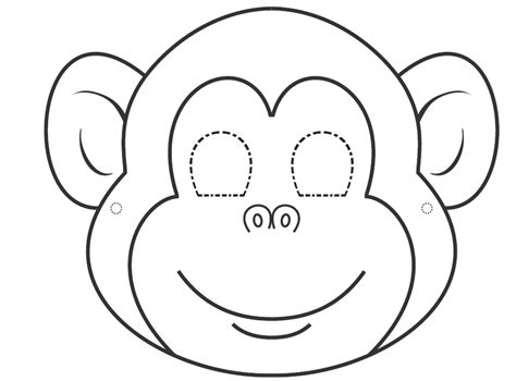 coloring page of a monkey face i want to learn english colouring masks for carnival time