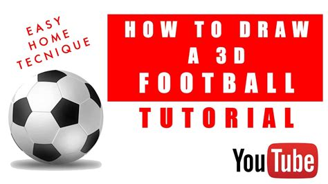 How To Make A 3d Football Out Of Paper - how to draw a 3d football easy technique simple for