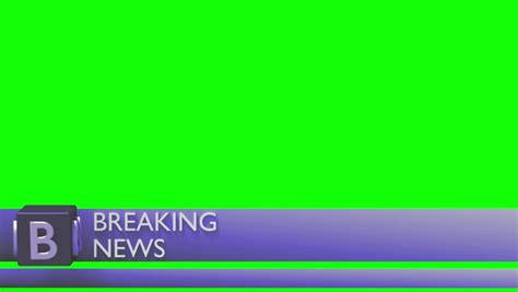 breaking news logo picture template banner lower 3rd news corporate dual third l3rd purple stock