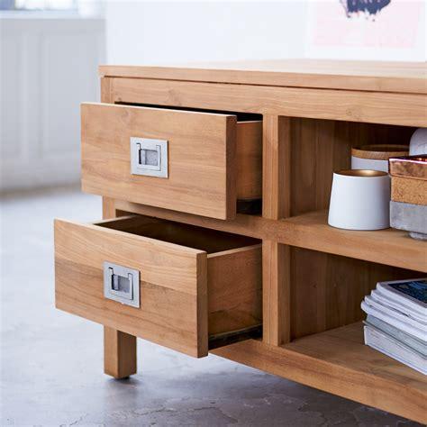 meubles en teck meuble pour tv en teck meubles tele mini coffee tek sur tikamoon