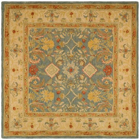 Safavieh Dhurries Light Blue Ivory 6 Ft X 6 Ft Square Square Rug