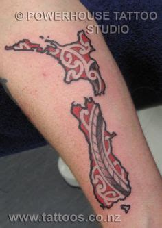 tattoo new zealand south island my homeland tattoo of the north south islands of new