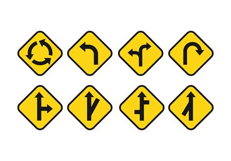 Road Signs by Free Road Signs Vector Set Free Vector